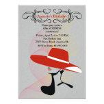 "Red Hat Invitation 5"" X 7"" Invitation Card"