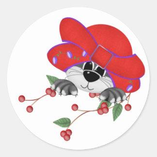 Red Hat Kitty Sticker