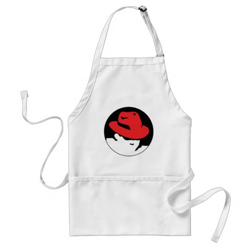 Red Hat Linux Logo Adult Apron