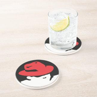 Red Hat Linux Logo Coaster