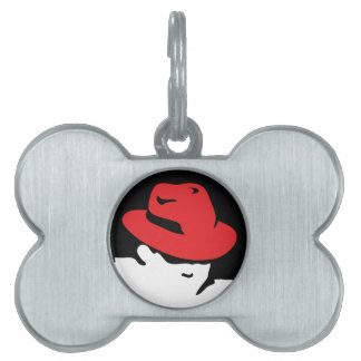Red Hat Linux Logo Pet ID Tag