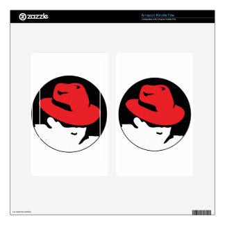 Red Hat Linux Logo Skins For Kindle Fire