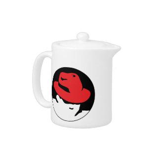 Red Hat Linux Logo Teapot