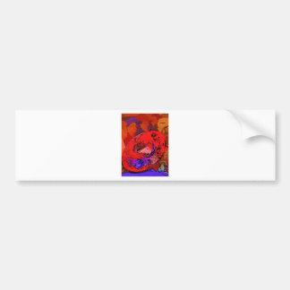 Red Hat Lithograph Bumper Sticker