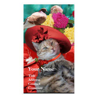 RED HAT OF PRINCESS TATUS Pet,Cat Beauty Salon Business Card
