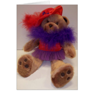 Red Hat Teddy Greeting Card
