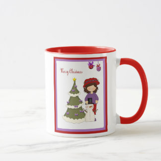 Red Hat Woman Christmas Coffee Cup