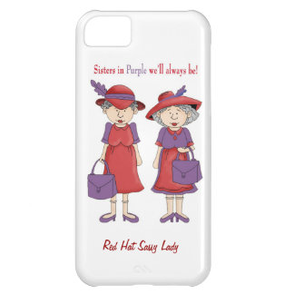 Red Hat Woman Sisters In Purple IPhone 5 Case
