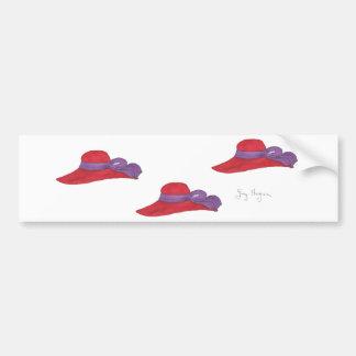 Red Hats Bumper Sticker Car Bumper Sticker