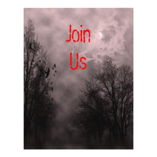 Red Haunted Halloween Sky Custom Flyer