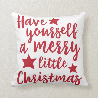Red Have Yourself a Merry Little Christmas Pillow