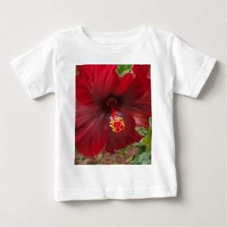 red hawaii hibiscus plant t shirt