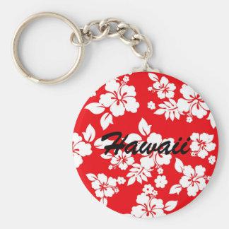 Red Hawaiian Basic Round Button Keychain
