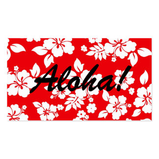 Red Hawaiian Business Card