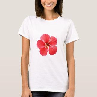 Red Hawaiian Hibiscus Flower T-Shirt