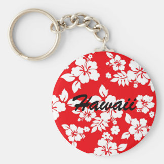 Red Hawaiian Keychain