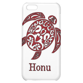 Red Hawaiian Sea Turtle on White Case For iPhone 5C