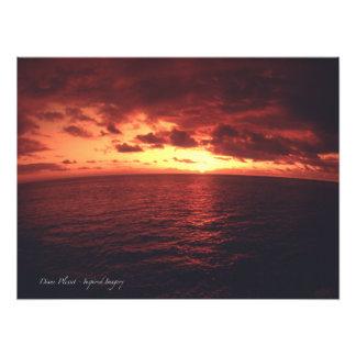 Red Hawaiian Sunset Photo Print