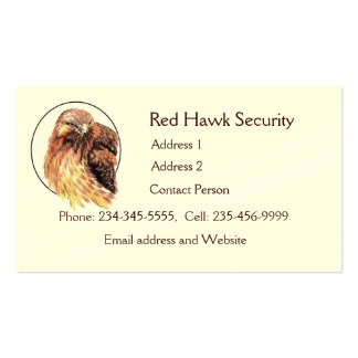 Red Hawk Custom Business Bird of Prey Double-Sided Standard Business Cards (Pack Of 100)