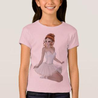 Red Head Ballerina Woman T-Shirt