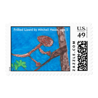 red head bird, RedEyed Tree frog, red fox, red ... Postage
