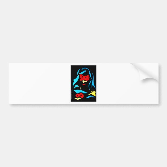 Red Head Bumper Sticker