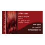 Red Head Business Card Design