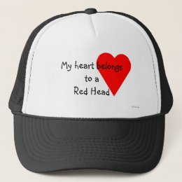 Red Head Heart Hat