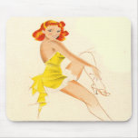 Red Head Pinup Mouse Pads