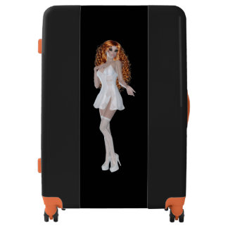 Red Head Woman in Lingerie Large Sized Luggage