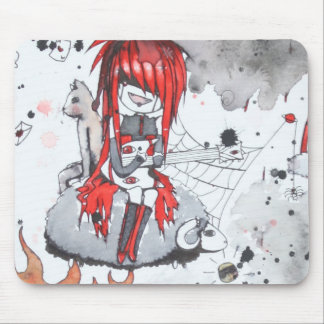 Red Headed Bass Player Mousepad