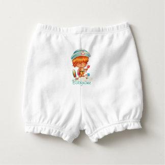 Red-Headed Beach Bum Personalized Diaper Cover