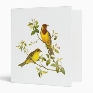 Red-Headed Bunting 3 Ring Binder