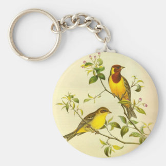 Red-headed Bunting Emberiza bruniceps Key Chains