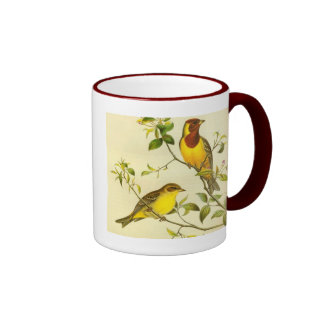 Red-headed Bunting Emberiza bruniceps Coffee Mug