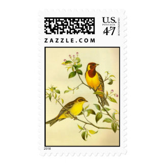 Red-headed Bunting Emberiza bruniceps Stamp