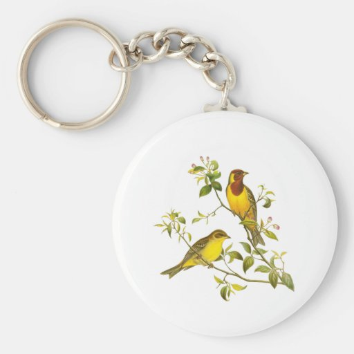 Red-headed Bunting Keychain