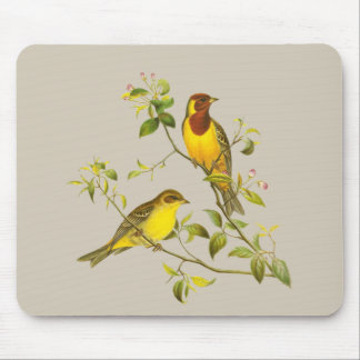 Red-headed Bunting Mouse Pad