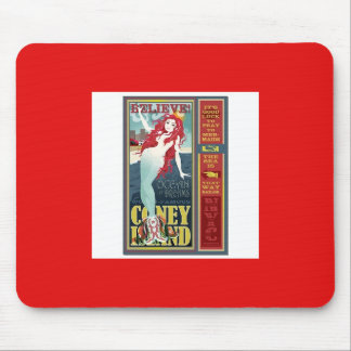 red-headed coney island mermaid mouse pad