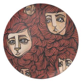 red headed follicle friends plate