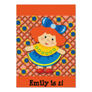 Red Headed Girl Birthday Party Invite