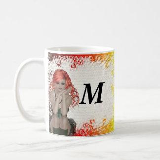 Red headed goth girl coffee mug