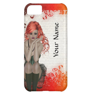 Red headed goth girl iPhone 5C cover