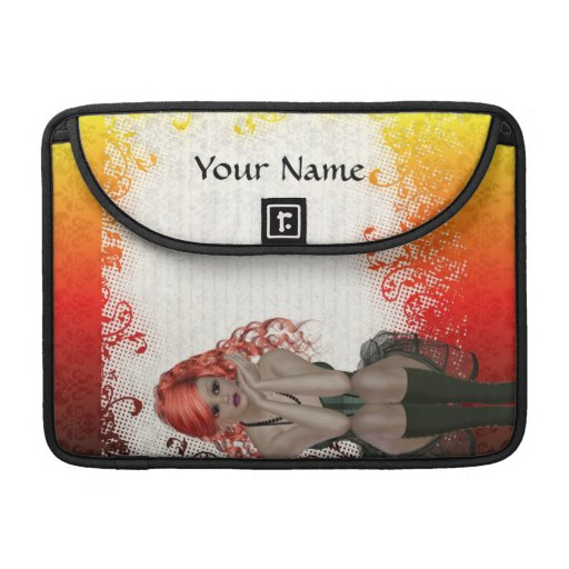Red headed goth girl sleeves for MacBooks