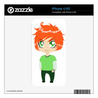 Red Headed Guy In Green Clothes Decal For iPhone 4