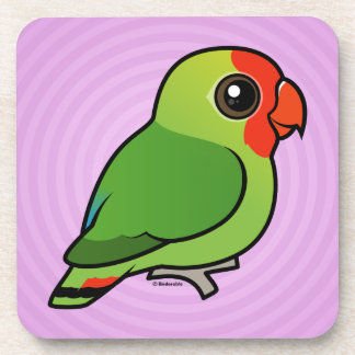 Red-headed Lovebird Coaster
