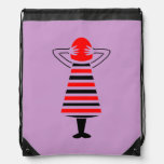 Red Headed Woman Abstract Art Backpack