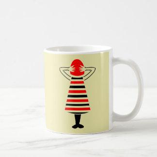 Red Headed Woman Abstract Art Coffee Mug