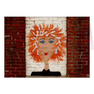 Red Headed Woman Greeting Cards
