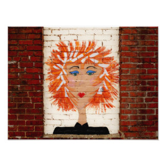 Red Headed Woman Photo Print